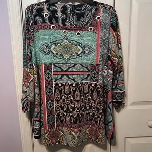 New Direction Top Mixed Print Size Lg G